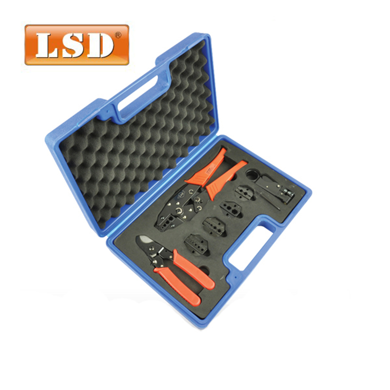 LS-05H-5A2 Crimping tool kits coaxial cable tool  with crimping toolwire stripperdies tools  crimping plier set