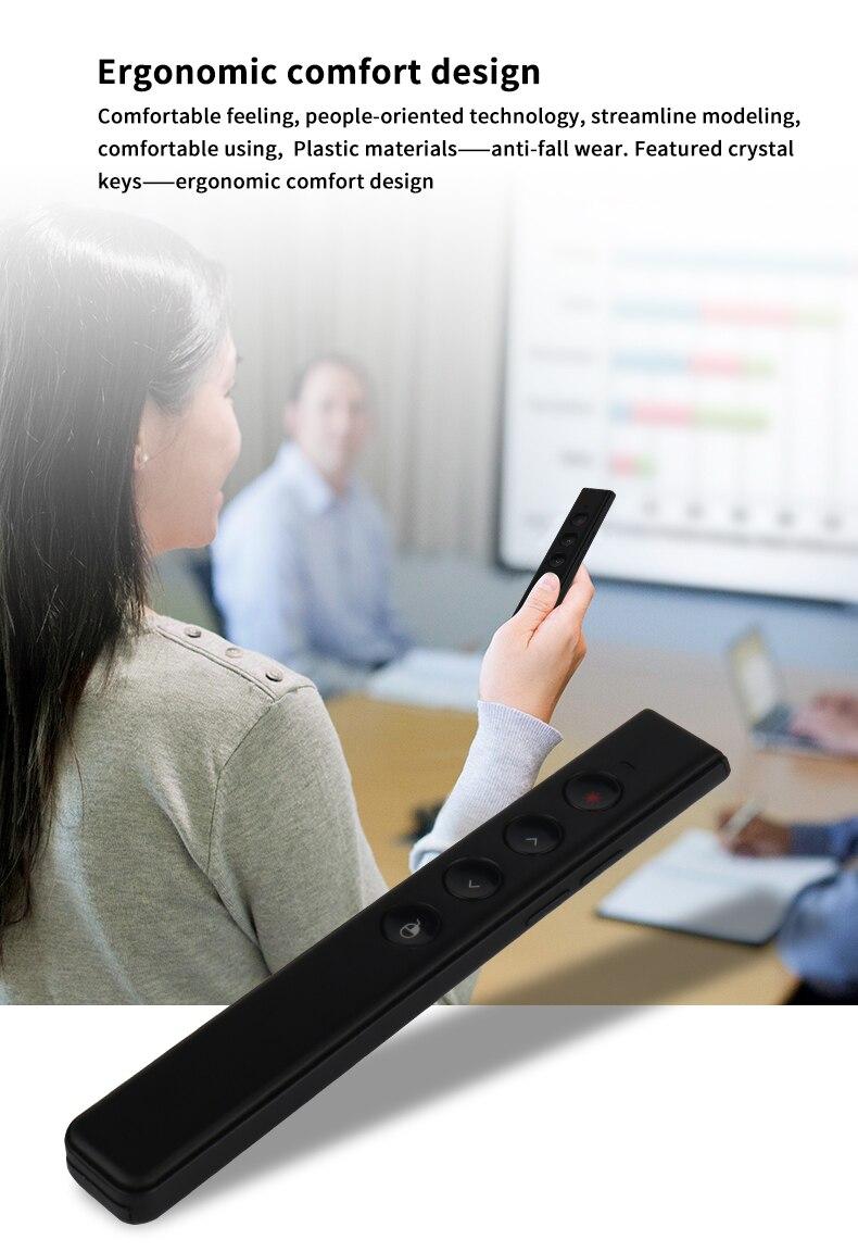 AVATTO 2 4G Apresentador de Laser Recarregável Sem Fio com Air Mouse, PPT  Apresentação Clicker de Controle Remoto para Dispositivos Multimídia