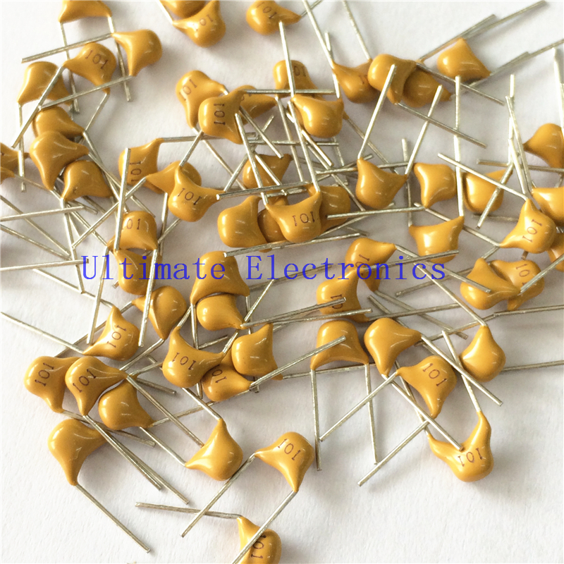 100pcs/lot  Multilayer Ceramic Capacitor 101 50V 100pF 101K P=5.08mm