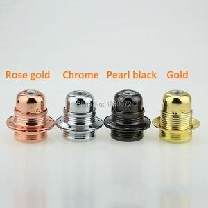 Image 3 - 6 개/몫 에디슨 e27 금속 철 램프 홀더 펜던트 라이트 램프 소켓 램프베이스