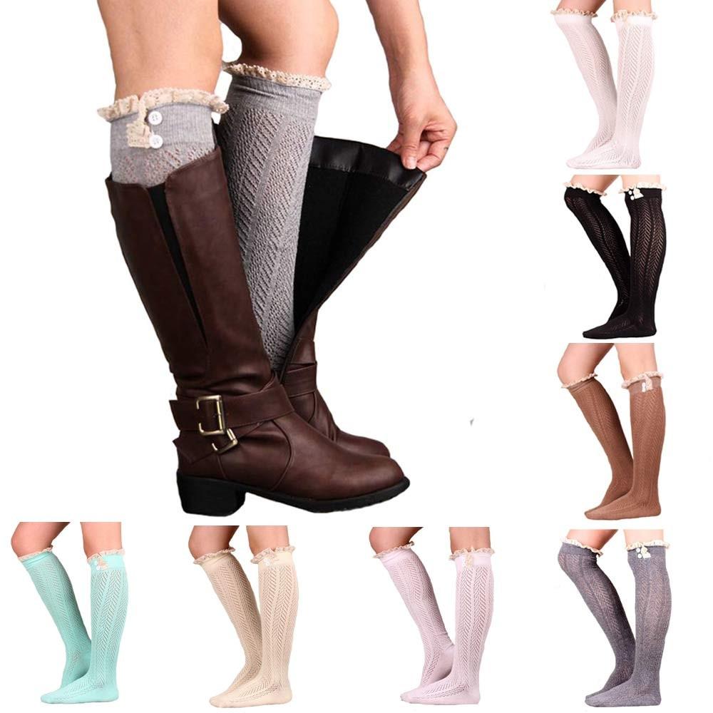 winter warm leg warmers socks soft wool knitted
