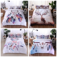 Hipster Bedding Skull Bedding Sets Bedding Set Queen Size Duvet Cover Bohemian Dreamcatcher Country Rustic Line