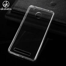 Akabeila Прозрачный чехол для Xiaomi Redmi 3 S Redmi 3 Pro Redmi 3 S Pro Redmi3 Pro Чехлы прозрачный оригинал Ультра Тонкий силиконовый чехол