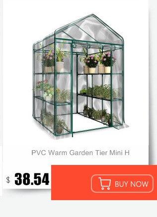 ПВХ теплый садовый ярус Мини Бытовая растительная теплица крышка(без железной подставки