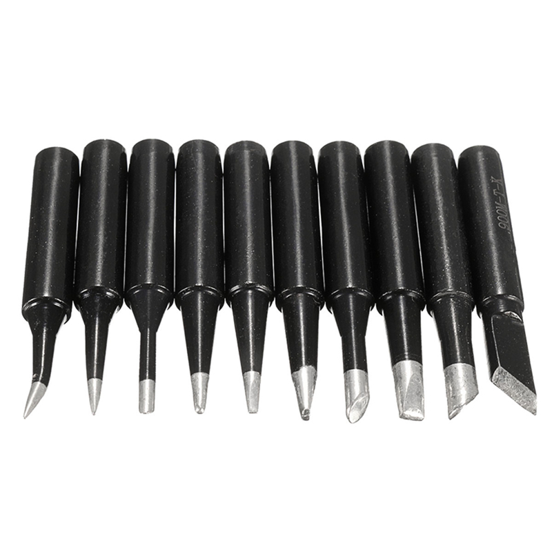 10Pcs/Lot Lead-free 900M T Screwdriver Soldering Iron Tips Set For Hakko 936/937/928 Station Welding Head Rework Tool Kits