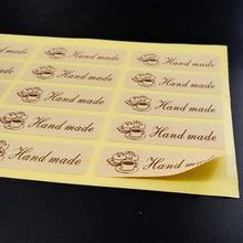 120PCS/lot New Cake Hand made Seal Sticker Baking Sealing Stickers Seal DIY Food Decoration