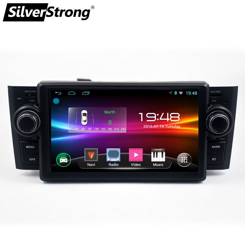 Lecteur multimédia de voiture SilverStrong GPS Android9.1 autoradio 1 Din DVD pour Fiat/Grande/Punto/Linea 2007-2012 Radio FM direction