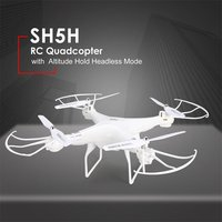 SH5H 2.4G 4CH Smart Drone RC Quadrocopter with 720P Camera DRON Altitude Hold Headless Mode One Key Return LED Light VS Syma X5