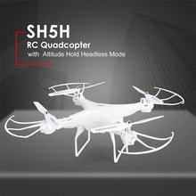 SH5H 2.4G 4CH Smart Drone RC Quadrocopter with 720P Camera DRON Altitude Hold Headless Mode One Key Return LED Light VS Syma X5(China)
