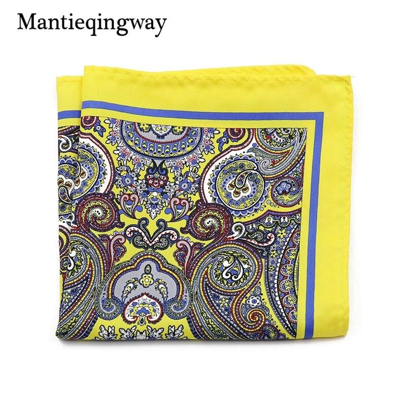 Mantieqingway Vintage Ladies Paisley Floral Handkerchiefs Pocket Square Wedding Suits Handkerchief For Mens Pocket Towel Hanky