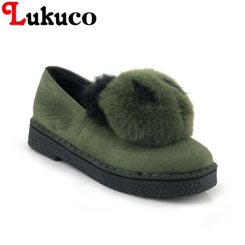 2018 plus size 35 to 45 Lukuco LADY SHOES round toe women boots cute panda design high quality WARM WINTER shoes FREE SHIPPING