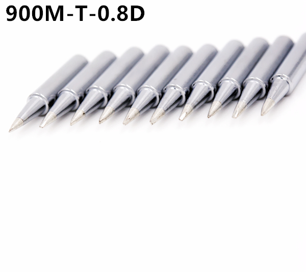 SZBFT 10 X High Quality Lead-free Pencil Soldering Iron Tips 900M-T-0.8D For Hakko Soldering Station,free Shipping