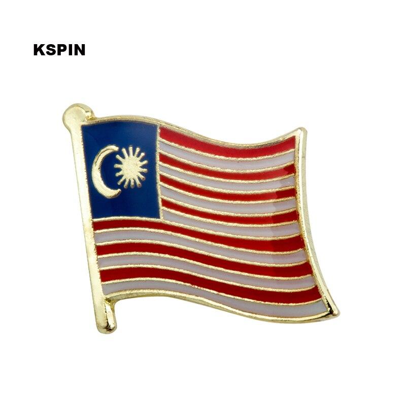 Malaysia flag lapel pin badge pin 300pcs a lot Brooch Icons KS 0114