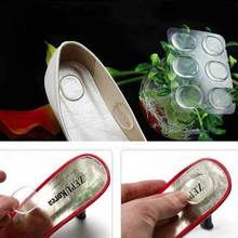 6pcs/sheet Foot Care Silicone Round Shoes Pad Gel Insole Insert Cushion Stick To Protect Foot From Hurt Foot Massage Health Care