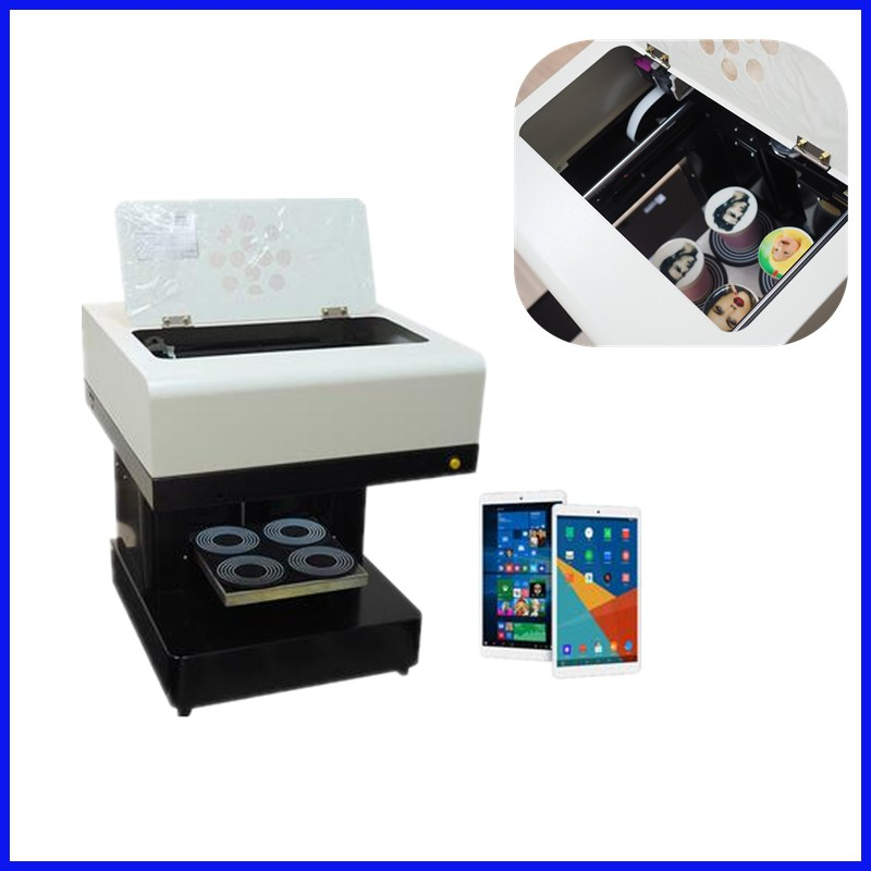 2018 hot sale Automatic 4 cups coffee printing machine DIY design art design coffee printer with 110V & 220V