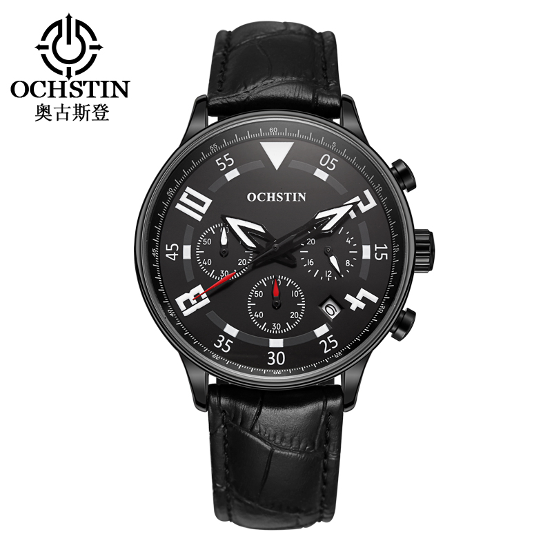 2016 Sale New Ochstin Watch Men Multifunction Fashion Wrist Watches Men's Quartz-watch Relojes Hombre Analog Male Clock Relogio vintage chinese black white geometric wallpaper study living room tv background walls mural ceiling murals wall paper home decor