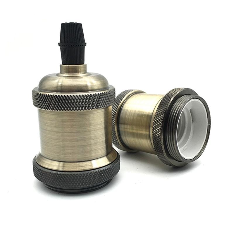 Vintage Bronze Decorative Lampholder E26 E27 Pendant Lamp Holder Lamp Socket