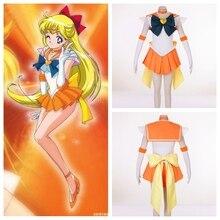 SuperS Sailor Moon anime cosplay Sailor Venus Minako Aino cosplay disfraces de halloween de la mujer