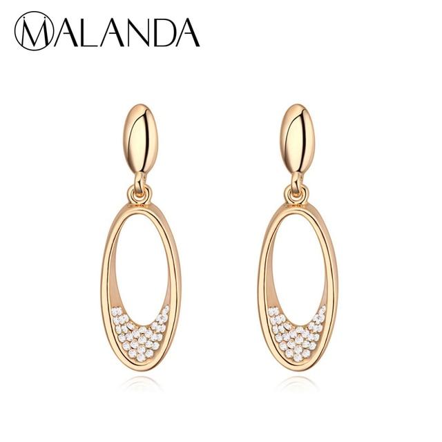 MALANDA Luxury Drop Earrings For Women Zircon Crystal From Swarovski  Channel Brand Dangle Earrings Fashion Jewelry Accessories ddc68779dfeb