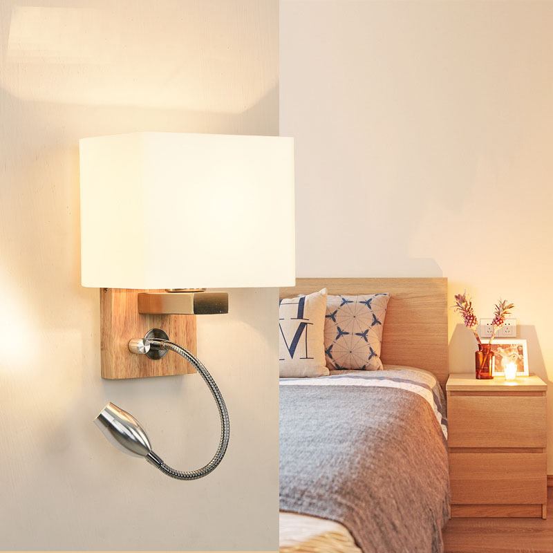 Modern home decoration lighting wall lamp reading reading lamp stair light LED solid wood wall lamp ZP5091113Modern home decoration lighting wall lamp reading reading lamp stair light LED solid wood wall lamp ZP5091113