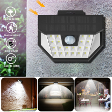 Solar Lights Motion Sensor Night Wall Lamp 28 LED Outdoor Waterproof Security Lights for Front Door Yard Garage Deck