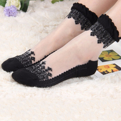 2 пары женских кружевных носков с рюшами, мягкие удобные прозрачные шелковые хлопковые эластичные сетчатые трикотажные прозрачные женские ...