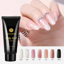 MSHARE Polygel Nail Acrylic Poly Gel  60ml Pink White Clear Crystal UV LED Builder Gel Tips Enhancement Quick Extension mshare poly gel varnish nail 4 pieces 60ml polygel pink white transparent clear builder gel wholesale
