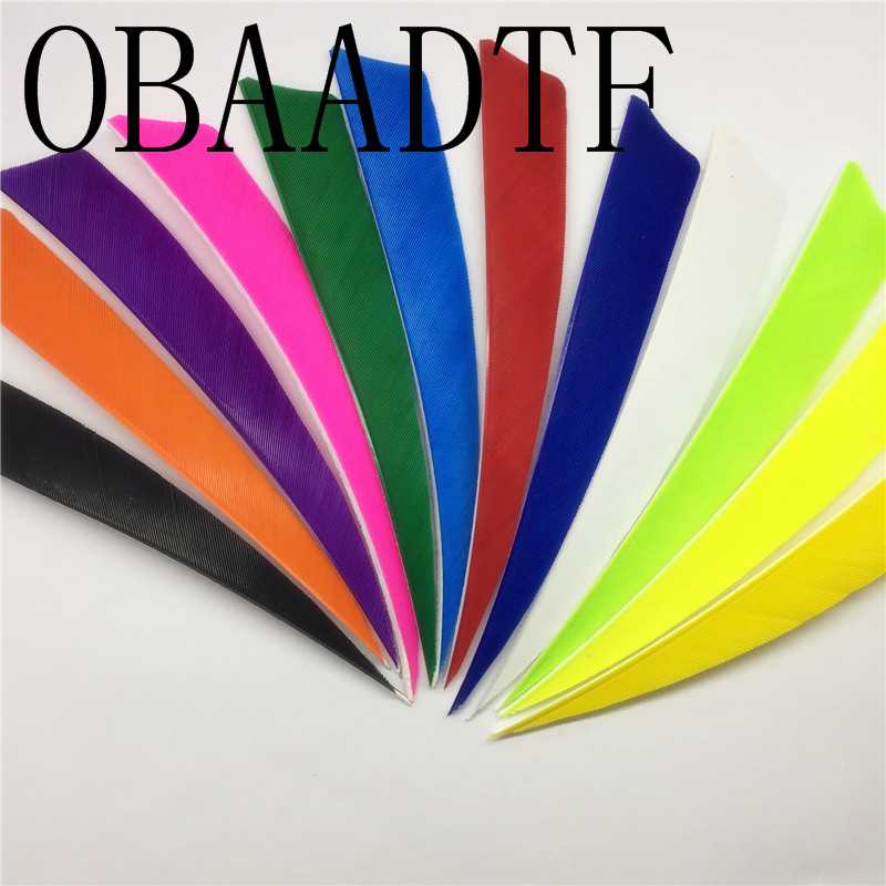 100pcs 5 quot Shield Cup Archery Fletches Arrow Feathers Turkey Feather Hunting Arrow Accessories 5 Inch Schield Fletchings in Bow amp Arrow from Sports amp Entertainment