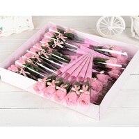 Duftenden Seife Rosenseife Blume Blütenblatt mit Geschenk-box Für hochzeit Valentinstag Muttertag Lehrer Tag Geschenk 30 Stücke/Set