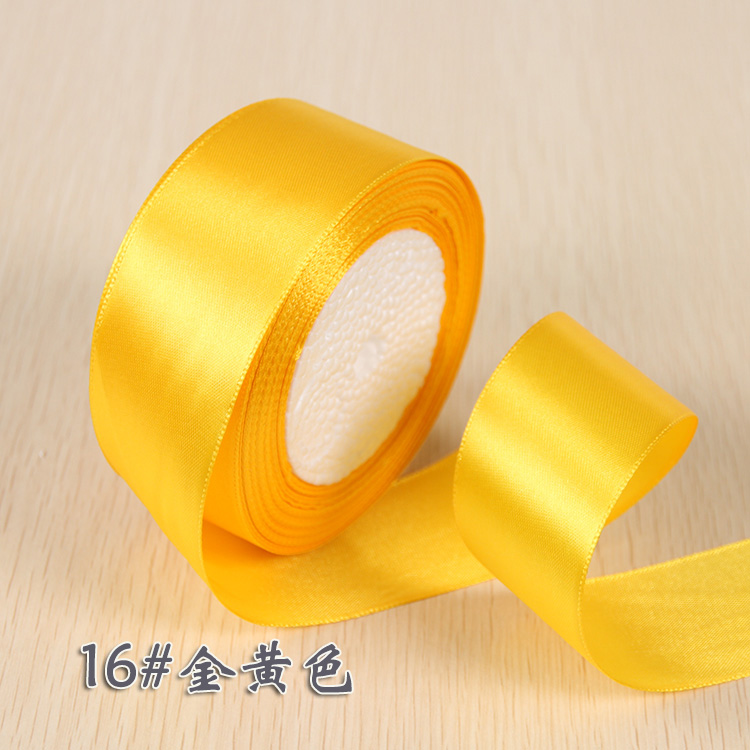 6 мм 1 см 1,5 см 2 см 2,5 см 4 5 см атласными лентами DIY искусственный шелк розы Ремесла поставок швейной фурнитуры Скрапбукинг материал - Цвет: Золотой