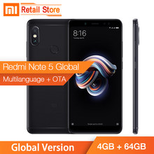 "Global Version Xiaomi Redmi Note 5 Smartphone 4GB 64GB Snapdragon 636 Octa Core 5.99"" 18:9 Full Screen Dual AI Camera Metal Body(China)"