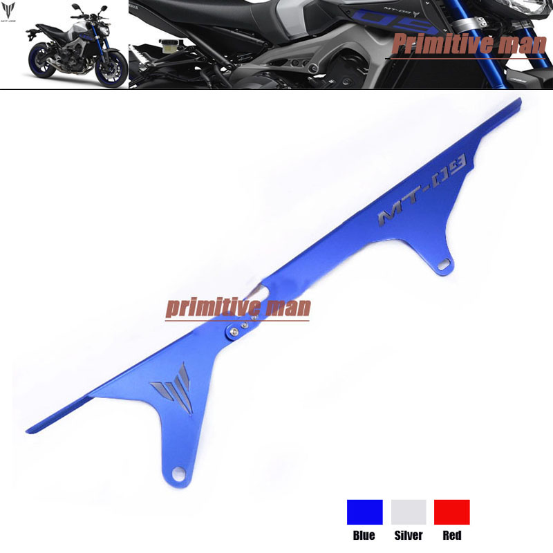 ФОТО For YAMAHA MT 09 MT09 MT-09 Tracer 2015 Motorcycle Accessories Rear Chain Guard Swingarm Cover Blue