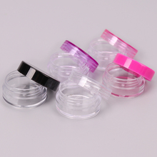 5PCS Cosmetics Jar Box Makeup Cream Refillable Bottle Storage Pot Container Round Bottle Portable Plastic Transparent Case цены онлайн