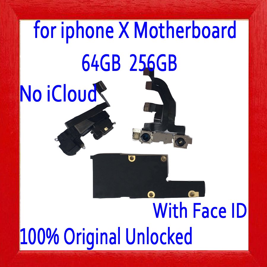 for iphone X Motherboard with Face ID,Original unlocked for iphone X Mainboard with Free iCloud,for iphone X Plate,64GB 256GBfor iphone X Motherboard with Face ID,Original unlocked for iphone X Mainboard with Free iCloud,for iphone X Plate,64GB 256GB