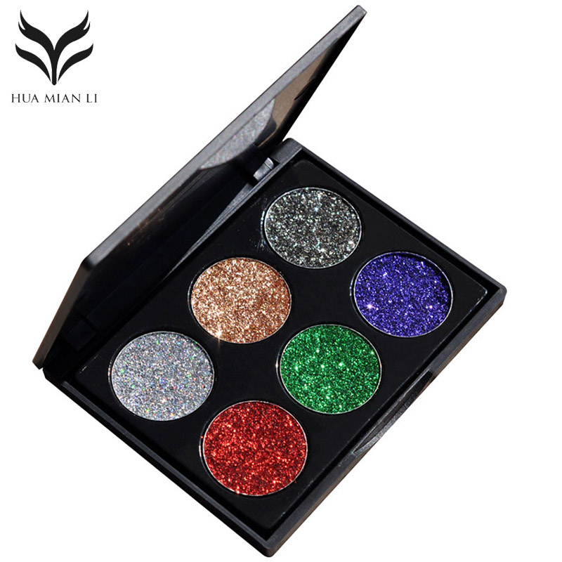 Beauty Essentials Realistic Cosmetic Professional Makeup Glitter Eyeshadow Powder Diamond Lips Loose Eyes Highly Pigment Shimmering Metallic Women12 Colors