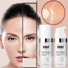 Меняющая цвет жидкая основа для макияжа меняющая тон вашей кожи стойкая 12 мл