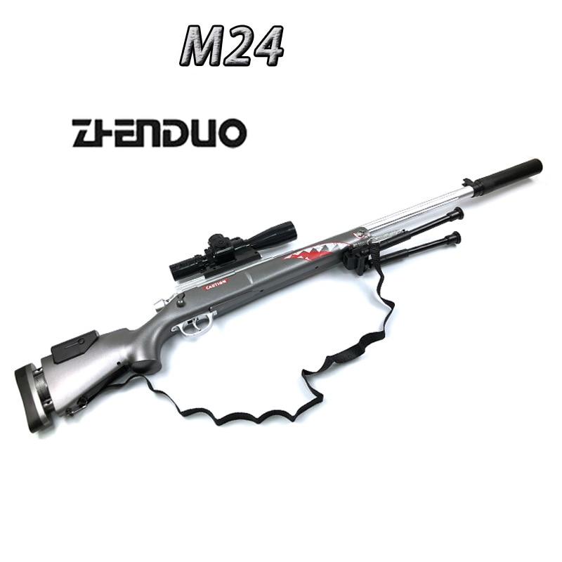 Zhenduo Jouet M24 Gel Balle Tireur D'eau Bullet Soft Gun Grève Fléchettes Backyard Blasters Jouet pistolet Livraison Pour Cadeau De Noël