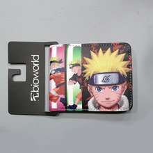 Naruto Dragon Ball Men Wallets Female Purse Short Slim Leather Dollar Coin Money Card Holder