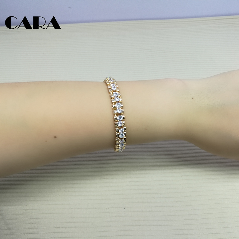 93be6f81ec57 2018 new Luxury lucky Chain Link Bracelet for Women girl Ladies Shining AAA  Cubic Crystal Birthday Jewelry Gift CARA0028