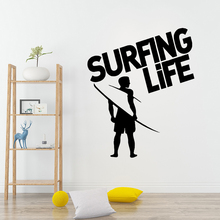 Fashion surfing life Home Decoration Accessories Waterproof Wall Decals Art DIY Decor