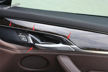цена на Lapetus For BMW X5 F15 2014 - 2017 / X6 F16 2015 - 2018 ABS Interior Inner Car Door Catch Pull Handle Bowl Cover Trim 4 Piece