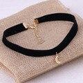 1Pc New Arrival Tiny Moon Pendant Black Korea Velvet Rope Choker Collar Necklace Female Simple Make Up Jewelry Girls Gift