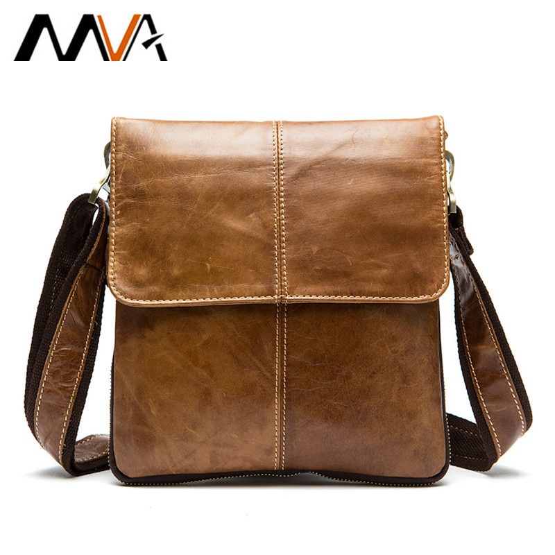 MVA Genuine Leather Men Bag Fashion Leather Crossbody Bag Shoulder Men Messenger Bags Small Casual Designer Handbags Man Bags fashion genuine leather men bags brand leisure men messenger bag man small shoulder bag high quality crossbody bags black