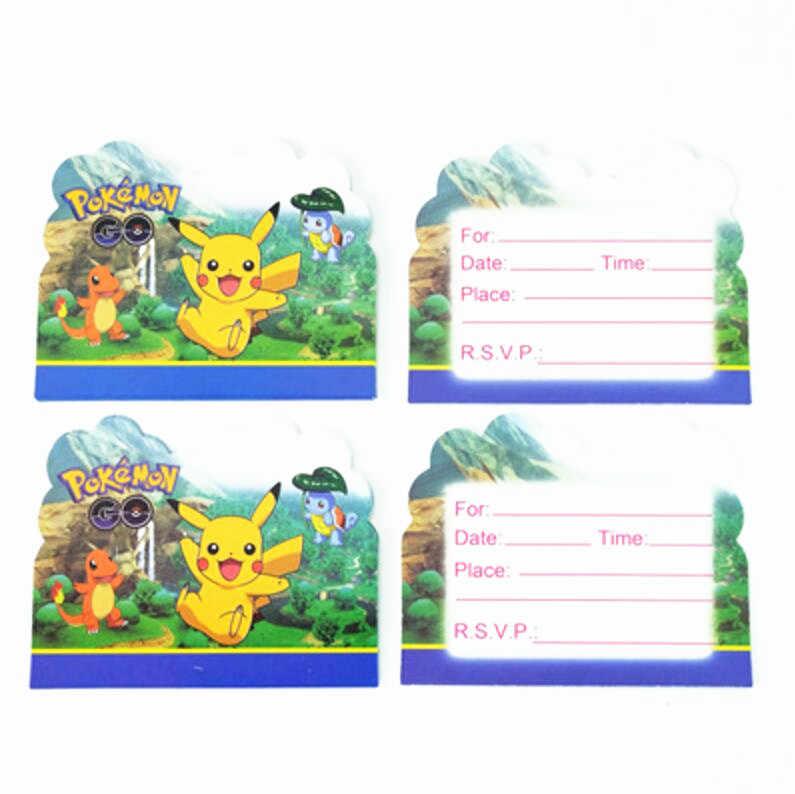 10 Piezas Dibujos Animados Pokemon Go Tema Fiesta
