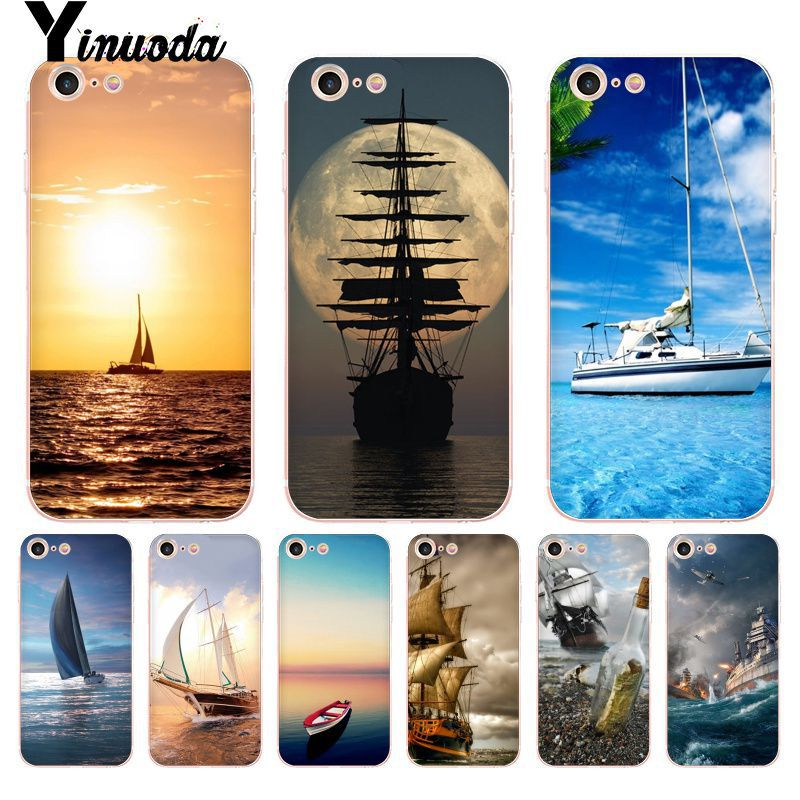 Yinuoda For Iphone 7 6 X Case Ship Moon Ocean Sunset Coque Shell Phone Case For Iphone 8 7 6 6s Plus X 5 5s Se 5c Xs Xr Cases Traveling Cellphones & Telecommunications
