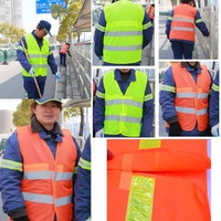 High Visibility Reflective Safety Vests Environmental Sanitation Vest 2 Colors