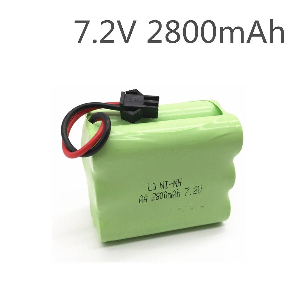1 pièces 2800mah 7.2v batterie rechargeable nimh 7.2 v/aa nimh batterie ni-mh 7.2v pour télécommande électrique jouet outil bateau