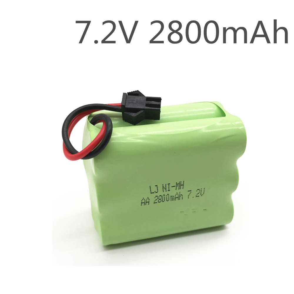 1PCS 2800mah 7.2v Rechargeable Pack Battery Nimh 7.2v / Aa Nimh Battery Ni-mh 7.2v For Remote Control Electric Toy Tool Boat