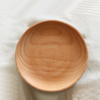 4.8 inch Beech Wood Plate Dish Art Craft