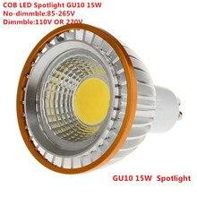 1 шт. светодиодный COB PAR20 лампа 220 В 110 В затемнения GU10 15 Вт лампа светодиодный P20 лампы для прожектора чистый белый/теплый белый/холодный белый точечный свет